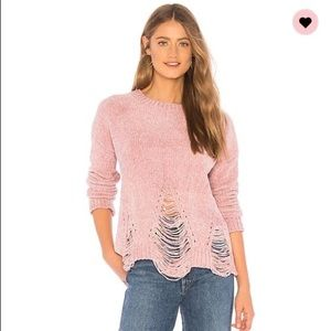 Sweaters - About us Mae Chenille Sweater in Pink !